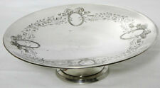 More details for vintage silver 'o holy night' x-mas pedestal cake stand -  [ pl-1721 r ]