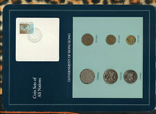 Coin Sets of All Nations Hong Kong 1979-1996 UNC $1 1996 $2 1993 $5 1993