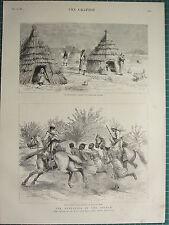 1883 VICTORIAN PRINT ~ REBELLION IN THE SOUDAN BASHI-BAZOUK SCOUTS KORDOFAN