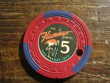 Rare 5Th Issue Flamingo $5 Casino Chip Las Vegas NV  Drilled