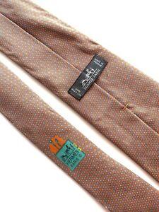 Hermes Paris Tie 645794 HA Silk 100%  Authentic 100% Made In France.
