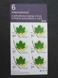 Canada mint nh  booklet of 6 , Booklet 283, $1.45 maple leaf [ 319