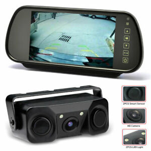 2 in 1 Reverse Camera & Parking Sensors Kit With 7 Inch Mirror Monitor Screen
