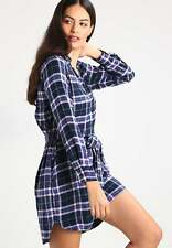 NWT Gap + Pendleton long sleeve shirtdress, Blue Plaid SIZE MT M T  #351523