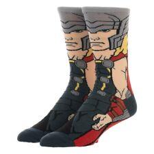 THOR 360 Men's Crew Socks Marvel Comics Avengers Full Body Ragnarok Asgardian