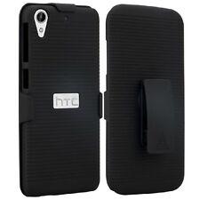 Black Shell Hard Case Cover + Clip for HTC Desire 530 / 625 / 626 / 626s / 630