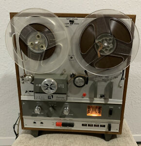 Akai X-1800SD Reel to Reel and 8 Track Tape Recorder with built in speakers