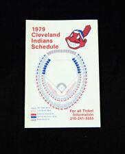 1979 Cleveland Indians Ticketron Baseball Pocket Schedule 112460S