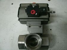 "NEW BETTIS PNEUMATIC ACTUATOR RPC450  118235 3 WAY STAINLESS  2"" NPT VALVE"