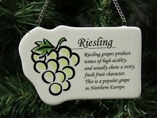 """White Wine """"Riesling"""" Christmas Ornament, Grapes"""