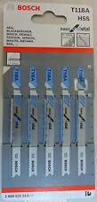 Bosch Jigsaw Blades Metal Cutting 1-3mm Pack of 5 T118A 2 608 631 013