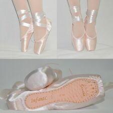 SAN01# Pink Satin Kinder Damen Ballett Tanz Spitzenschuhe 13 Größen
