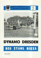 OL 84/85  BSG Stahl Riesa - SG Dynamo Dresden
