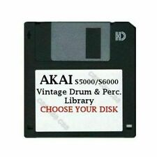 Akai S5000 / S6000 Floppy Disk Vintage Drums & Perc. Library Choose Your Disk