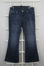 Guess Womens Flare Denim Jeans Sz 30 Dark Blue 5 Pocket