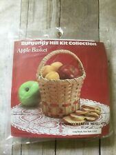 "Burgundy Hill Basket Kit Apple Basket Craft 6""X6""X9"" New"