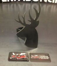 """Deer Hitch Cover - 1/8"""" Steel - Tow Towing Reese Custom Buck Hunting Hunter"""