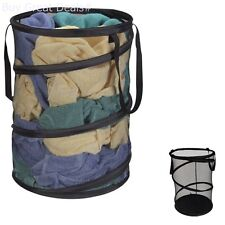 Pop Up Mesh Hamper - Laundry Bin Basket Clothes Folding Portable New