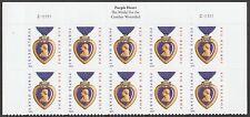US 4704b Purple Heart Medal forever header block 10 C111111 MNH 2014