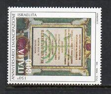 ITALIA Gomma integra, non linguellato 1998 sg2479 150th ANV concessione di diritti di cittadino completo per gli ebrei italiani