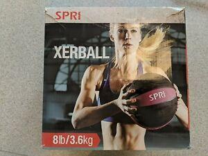 SPRI Medicine Ball 8LB Xerball Medicine Ball Purple/Black 05-58474