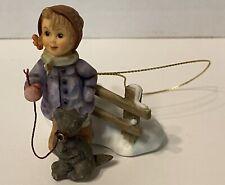 Goebel Hummel Figurine Ornament Boy and Dog Marked