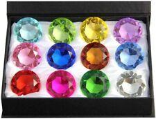 60mm Diamond Gift Home Decor Jewel Round Cut Crystal Paperweight Box Set (12pcs)