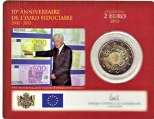 LUXEMBOURG BU 2012 Coincard 2 € Commémorative 10 ANS DE L'EURO / Sous blister