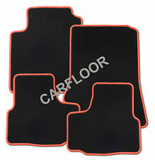 Für Lancia Musa Bj. ab 3.2005 Fußmatten Velours schwarz mit Rand rot