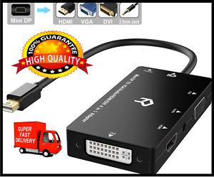 Rankie Mini DP Adapter, Mini DisplayPort to HDMI/DVI/VGA HDTV with Audio Output
