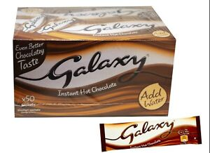 Galaxy Instant Hot Drinking Chocolate 50 Sachets Single Serve - Just Add Water