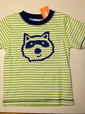 *NWT GYMBOREE* Boys MONSTRO-POLITAN Striped Raccoon Tee Shirt Size 12-18 Months