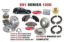 para BMW 120d 2007-2012 DELANTERO Y Trasero Discos de freno set &Pastillas Kit &