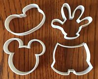 Mickey Mouse four piece set cookie & fondant cutter - US SELLER!!