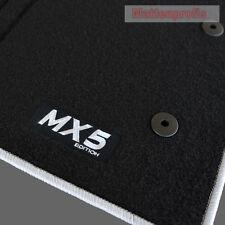 Mattenprofis Velours Fußmatten Logo silber für Mazda MX-5 MX5 ab Bj.11/2012 -