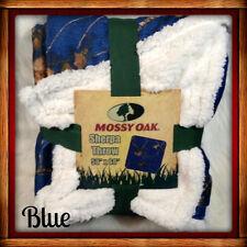 "MOSSY OAK SHERPA THROW BLANKET 50"" x 60""  CAMO BREAK-UP 4 COLOR CHOICE!! NEW"