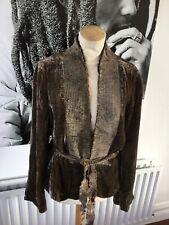 Stills designer bronze velvet coat size EU 42 BNWT