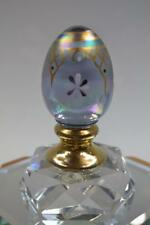 FENTON EGG Misty Blue Irid 14K GOLD Ornament deco #d 706 5140Q9 MIB freeUSAship