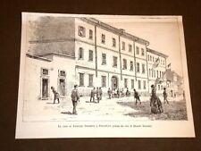 La casa di Agostino Depretis a Stradella nel 1887
