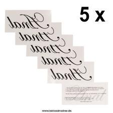 "5 x ""Anal"" Tattoo Schriftzug in schwarz - Sexy Kinky Fetish Körper Tattoo"
