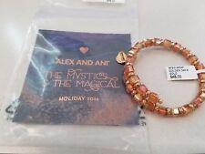 Alex and Ani GOLDEN DAYS WISH Rafaelian Gold Wrap Bangle New W/ Tag Card & Bag