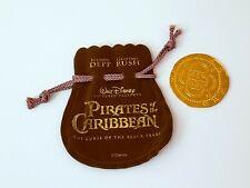 Original PIRATES OF THE CARIBBEAN Movie Film Prop COIN Rare Disney HTF POTC