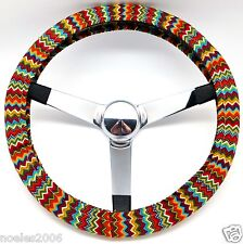 Handmade Steering Wheel Cover Southwest Chevron Zig Zag
