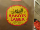 VINTAGE AUSTRALIAN BEER LABEL. CARLTON & UNITED - ABBOTS LAGER 375ML 84AL