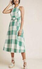 NWT Maeve Greta Gingham Dress Size 14 Green