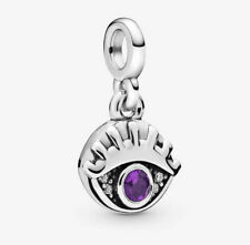 HOT Eye European Charm Crystal Spacer Beads Fit 925 Silver Necklace Bracelet