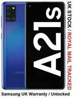 New Samsung Galaxy A21s Blue Dual Sim 2020 4G LTE 32GB Smartphone UK Version