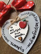 Personalized Teacher, Nursery, Play school Thank You, gift, Plaque, Keepsake