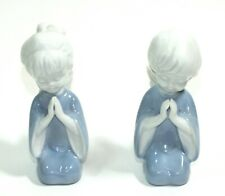 Vintage Praying Angels Figurines Porcelain Girl Boy Angels Christmas Holiday
