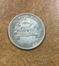 1893 Columbian Expo Commemorative Silver Half Dollar Vf/Xf